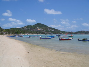 Boats on Chaweng Beach