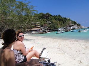 My last beach day with the girls on Koh Tao