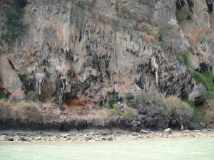 The eroded limestone cliffs are so cool looking