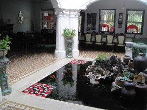 A koi pond inside the house - why not?!  (at the Chinpracha House, a fine example of Sino-Portuguese architecture)
