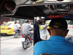 The obligatory tuk tuk ride (and yes, the driver has a US Navy hat on...but still stiffed us)