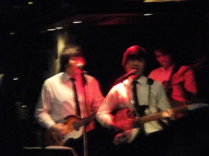 Beatles cover band (a bit blurry) -- they were pretty damn good!