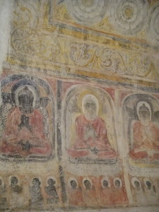 Old frescos of Buddha