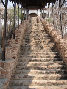 The many steps up Mandalay Hill