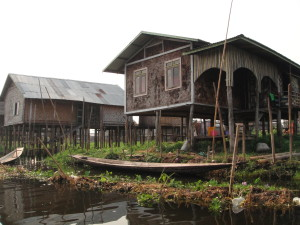 One of the floating villages