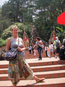 The original stair master - at the Wat Phra That Doi Suthep