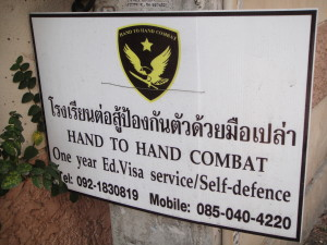 Who knew you could get a visa for hand-to-hand combat...bad ass!