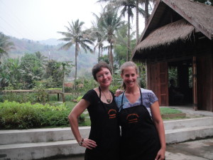 Time to cook!  At Tamarind cooking school.