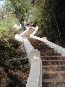Time to climb!  Heading up Phousi Hill.