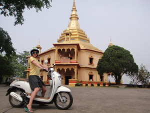 We were able to ride right up to this hilltop wat! @ Wat Taohai