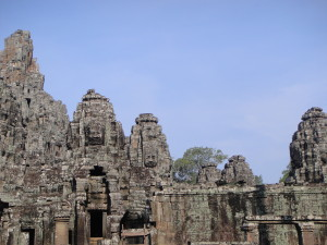 Some of the many faces of Bayon temple.