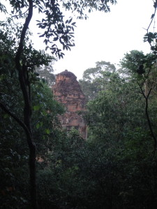 And ancient temple hiding in the jungle.
