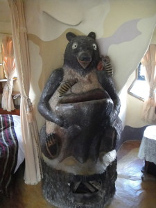 The bear room at the crazy house.