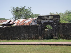Old imperial city in ruins (Hue Citadel).