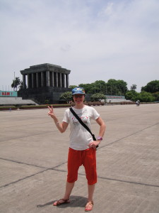 Me at Uncle Ho's mausoleum.